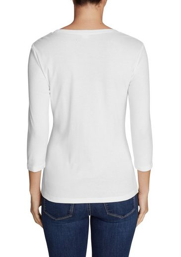 Eddie Bauer Favorite Shirt - 3/4-Arm mit Rundhalsausschnitt - uni