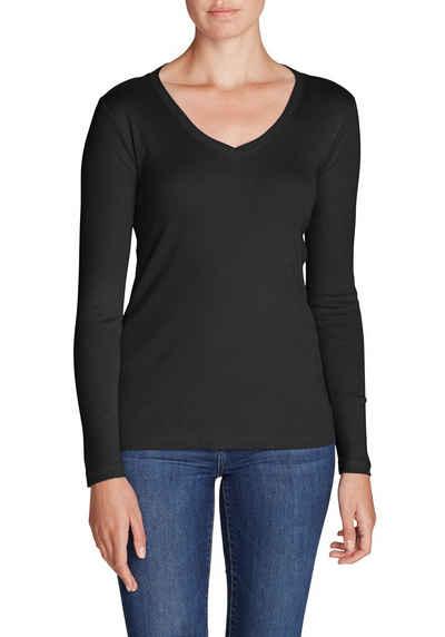 b98339fd0c84f Eddie Bauer Langarmshirt Favorite Shirt - Langarm mit V-Ausschnitt