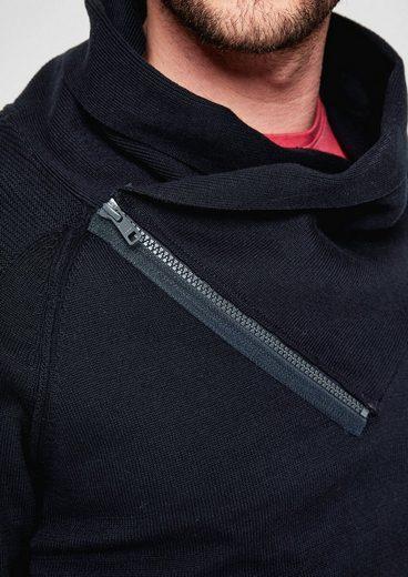 s.Oliver RED LABEL Pullover mit Reißverschluss