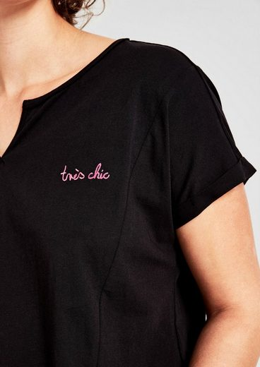TRIANGLE Jerseyshirt mit Stitching
