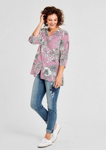 TRIANGLE Bluse mit Allover-Print