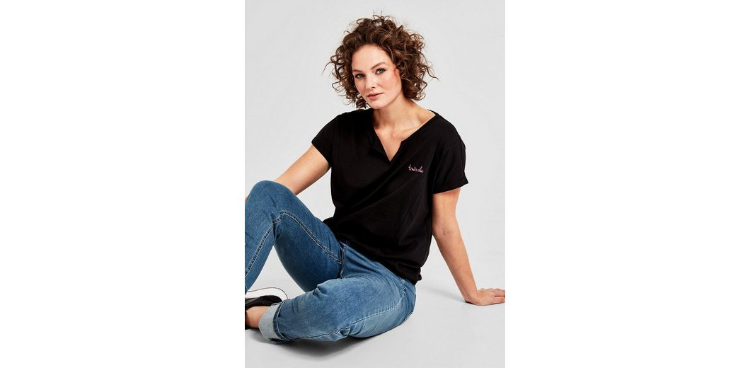 TRIANGLE Jerseyshirt mit Stitching Nicekicks Zum Verkauf lhgAh3htkd