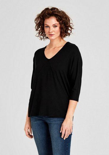 TRIANGLE T-Shirt mit Ziernähten
