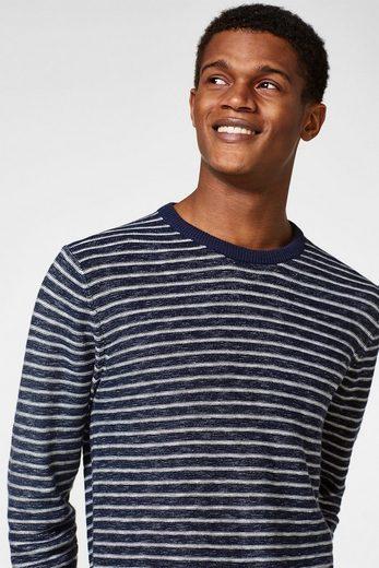 ESPRIT Strick-Sweater aus reiner Baumwolle