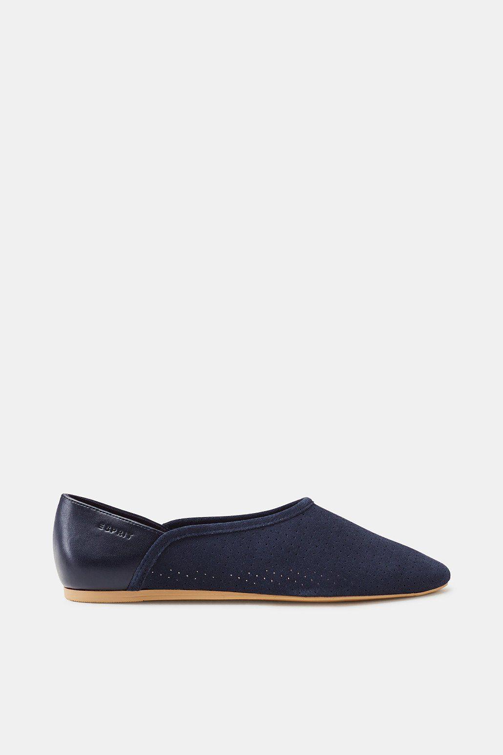 Esprit Loafer aus softem Veloursleder für Damen, Größe 37, Navy