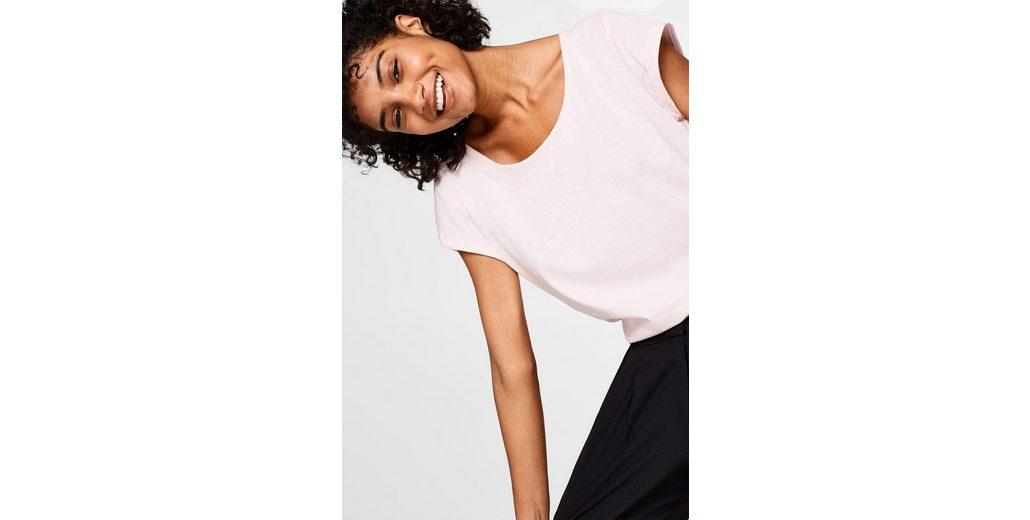 Günstiger Preis Vorbestellung ESPRIT Slub-Shirt aus Organic Cotton Verkauf Günstigen Preisen Verkauf NArZm71tW