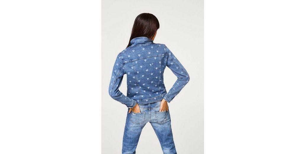 ESPRIT Jeans-Jacke mit bleached Herzchen Bester Ort Zum Verkauf Q7MdT8
