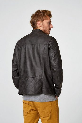 ESPRIT Bikerjacke in Leder-Optik