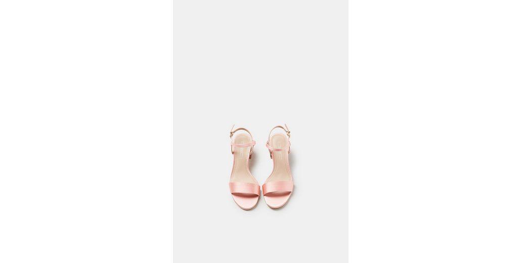 ESPRIT Satin-Sandalette mit Glitter-Absatz Rabatt Billig Zum Verkauf Footlocker Schnell Express Billig Verkauf Geniue Händler puvujCHcI