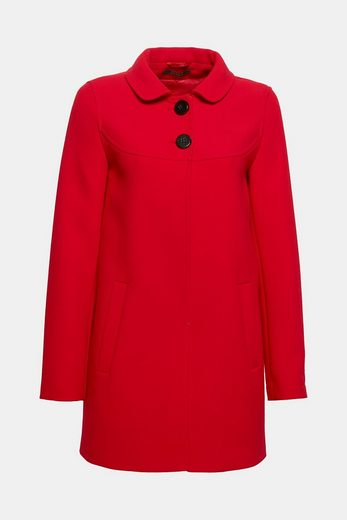 Esprit Collection Structure-coat With Peter Pan Collar