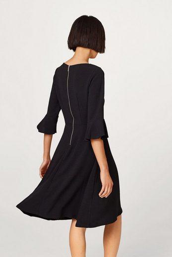 EDC BY ESPRIT Ausgestelltes Kleid mit Volantärmeln