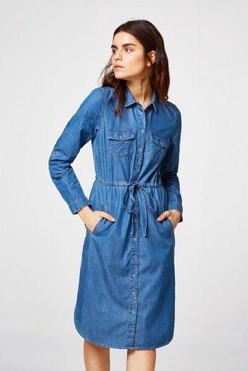 ESPRIT Variables Jeanskleid aus 100% Baumwolle