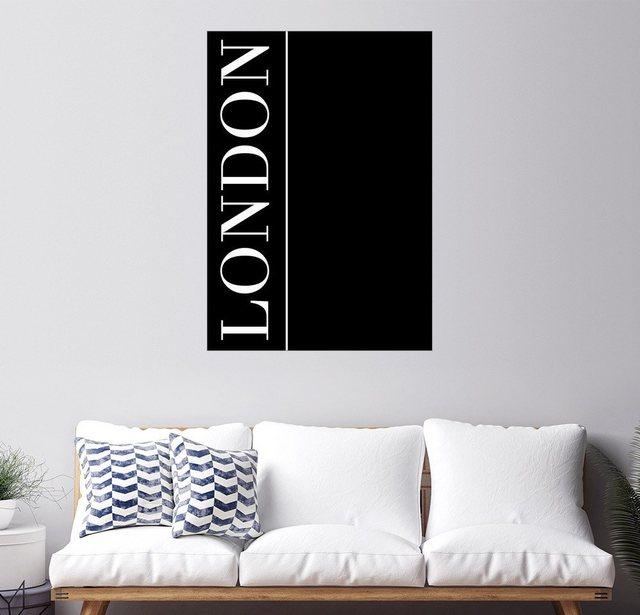 Posterlounge Wandbild - Stephanie Wünsche »LONDON, VERTICAL« | Dekoration > Bilder und Rahmen > Bilder | Schwarz | Posterlounge