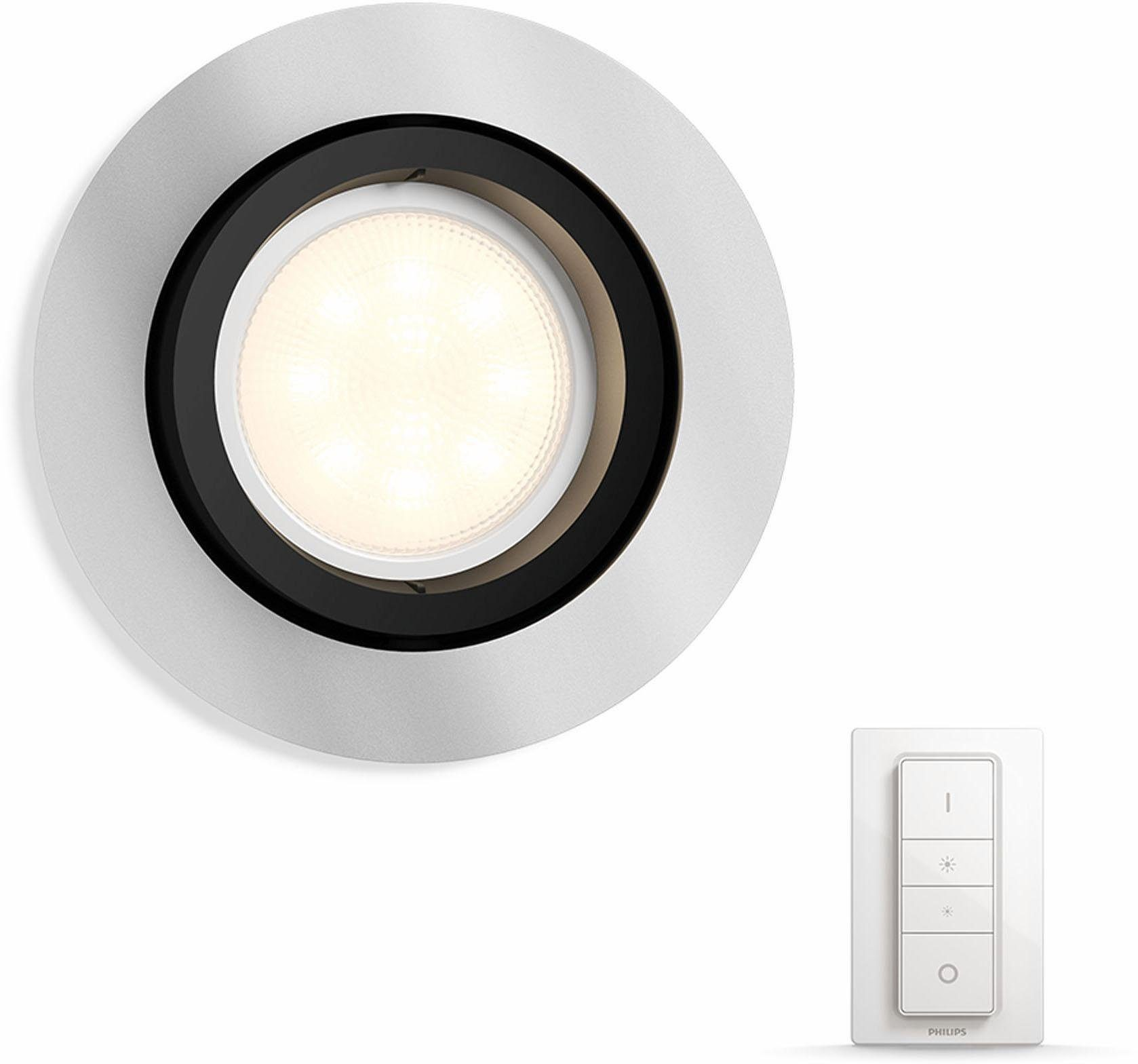 Philips Hue LED Einbaustrahler »Milliskin«, 1-flammig, Smart Home