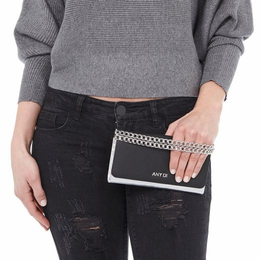 ANY DI Clutch BAG S, mit modischer Tragekette