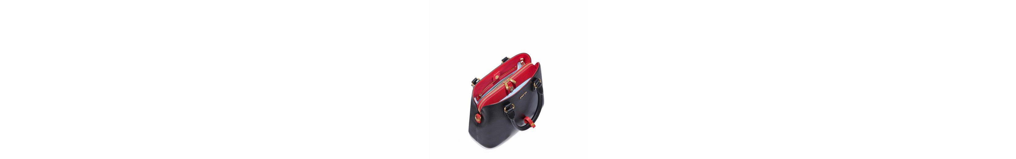 ANY DI Henkeltasche BAG XM, aus hochwertigem Leder, kann auch als Rucksack getragen werden