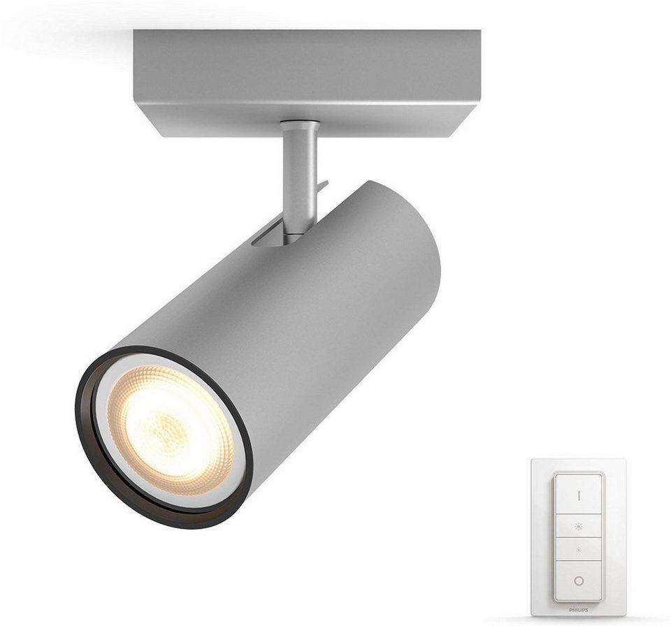 philips hue led deckenstrahler buratto 1 flammig smart home 4 vorprogrammierte. Black Bedroom Furniture Sets. Home Design Ideas