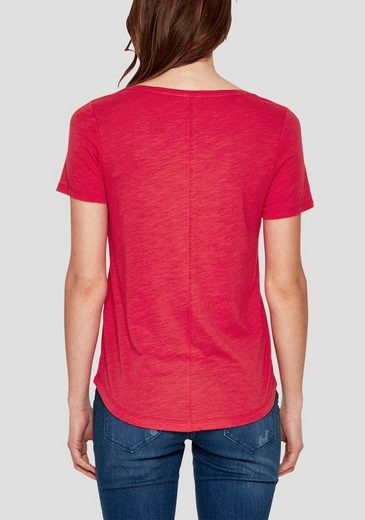 s.Oliver RED LABEL T-Shirt, Unifarbenes Design