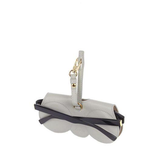 ANY DI Brillenetui, aus Leder mit praktischer Befestigungsschlaufe