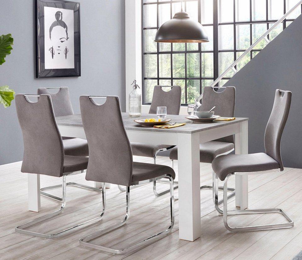 Homexperts »Zabona« Essgruppe (1 Tisch + 4 Stühle) | OTTO