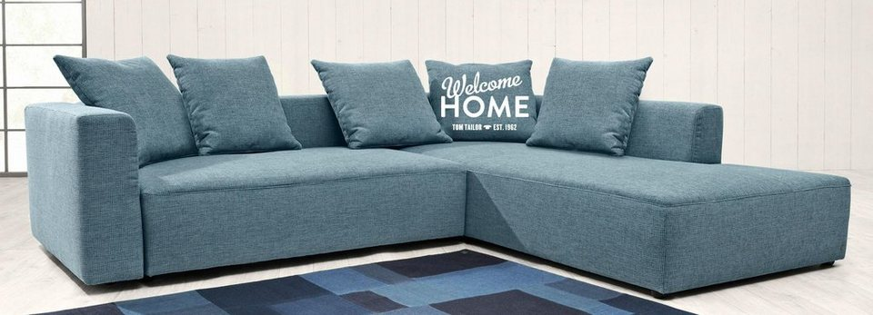 tom tailor ecksofa heaven casual colors wahlweise mit