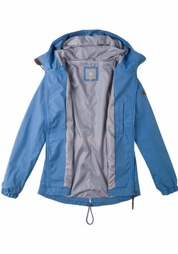 Functional Jacket In Linea, Hooded Elastic Band At The Waist