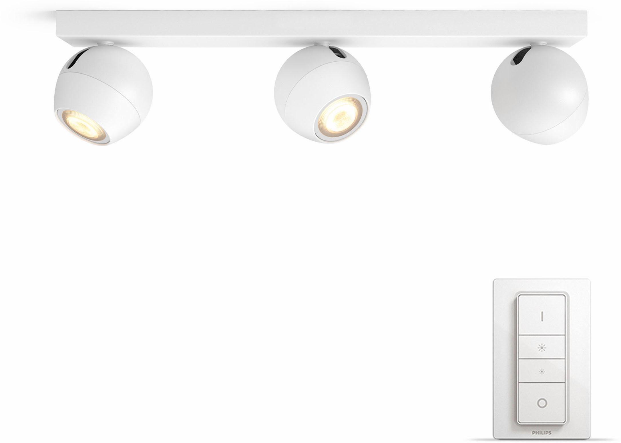 Philips Hue LED Spot Buckram weiß 3flg. inkl. Dimmschalter – der einf. Einstieg in Ihr Smart Home
