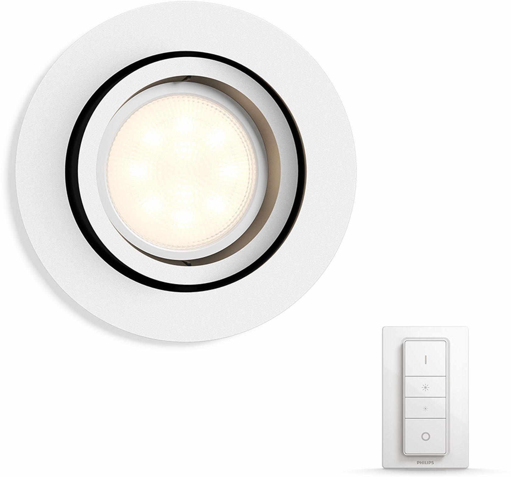 Philips Hue LED Einbaustrahler »Milliskin«, 1-flammig, Smart Home