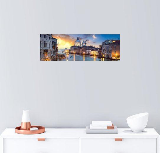Posterlounge Wandbild - Jan Christopher Becke »Canal Grande Panorama in Venedig, Italien«