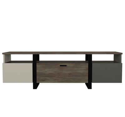 moebel17 TV-Regal »TV Lowboard Arne mit Metallfüße Grau Anthrazit«, Das TV Lowboard >> Arne<< im modernen und zeitlosen Design bringt einen Hauch von Stil in Ihre Wohnoase
