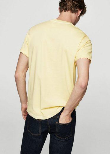 MANGO MAN Basic-T-Shirt aus Baumwolle