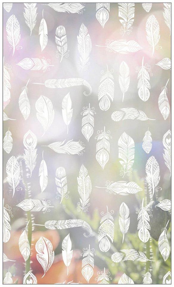myspotti fensterfolie myspotti look feathers white 60 x 100 cm statisch haftend online. Black Bedroom Furniture Sets. Home Design Ideas