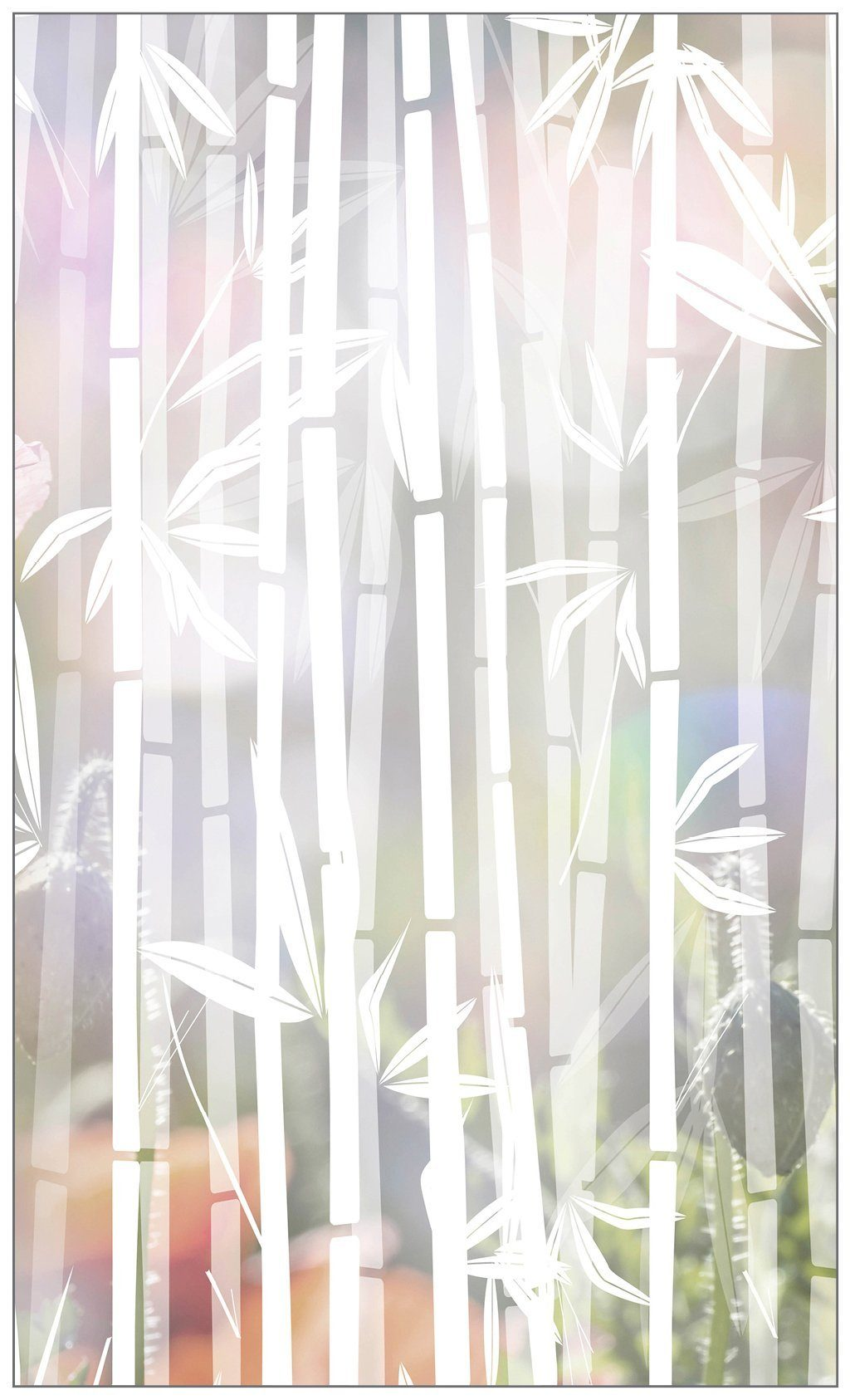 MYSPOTTI Fensterfolie »mySPOTTI look Bamboo white«, 60 x 100 cm, statisch haftend