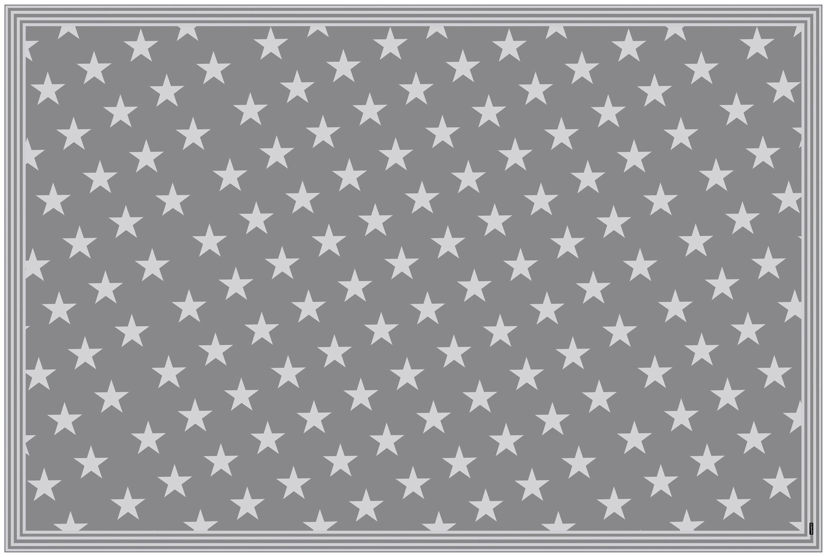 MYSPOTTI Vinylteppich »mySPOTTI buddy Mini Star Grey«, 203 x 136 cm, statisch haftend