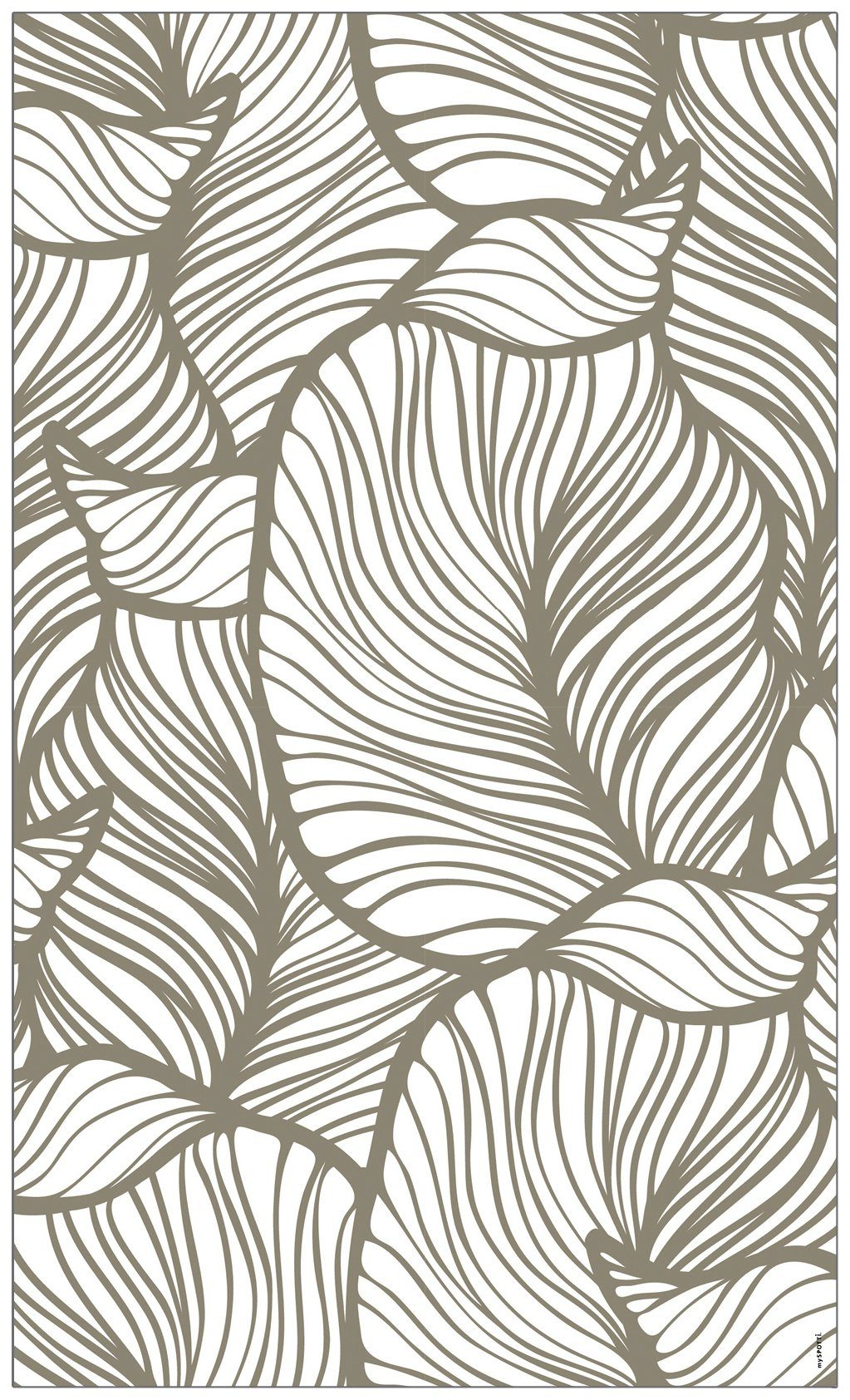 MYSPOTTI Fensterfolie »mySPOTTI look Leaves beige«, 60 x 100 cm, statisch haftend