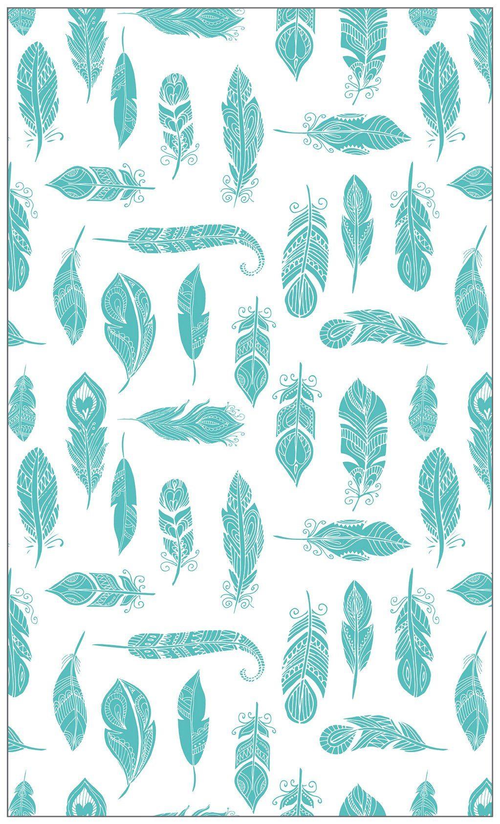 MYSPOTTI Fensterfolie »mySPOTTI look Feathers turquois«, 60 x 100 cm, statisch haftend