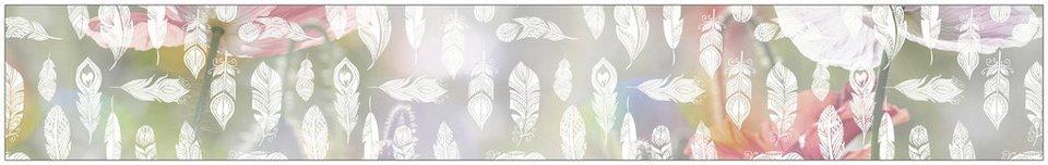 myspotti fensterfolie myspotti look feathers white 200 x 30 cm statisch haftend online. Black Bedroom Furniture Sets. Home Design Ideas