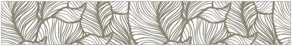 myspotti fensterfolie myspotti look leaves beige 200 x 30 cm statisch haftend online kaufen. Black Bedroom Furniture Sets. Home Design Ideas