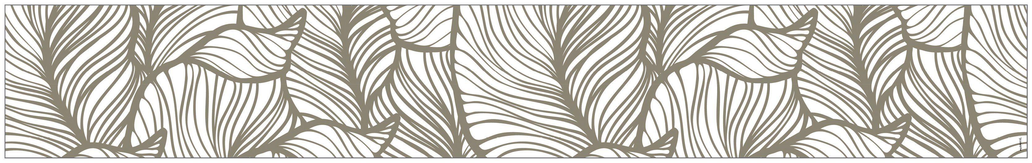 MYSPOTTI Fensterfolie »mySPOTTI look Leaves beige«, 200 x 30 cm, statisch haftend