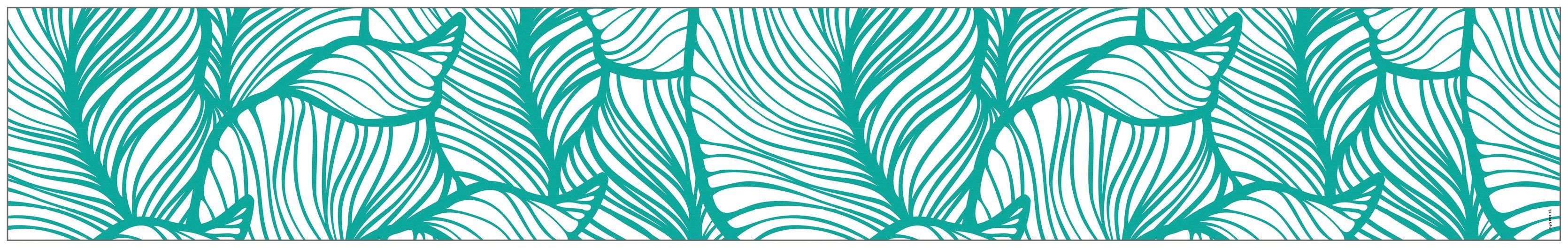 MYSPOTTI Fensterfolie »mySPOTTI look Leaves turquoise«, 200 x 30 cm, statisch haftend