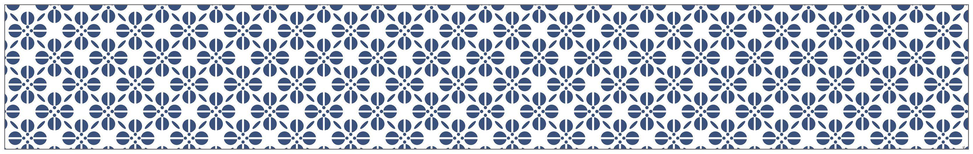 MYSPOTTI Fensterfolie »mySPOTTI look Grafik Blumenmuster blau«, 200 x 30 cm, statisch haftend