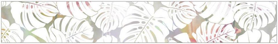 myspotti fensterfolie myspotti look monstera white 200 x 30 cm statisch haftend online. Black Bedroom Furniture Sets. Home Design Ideas