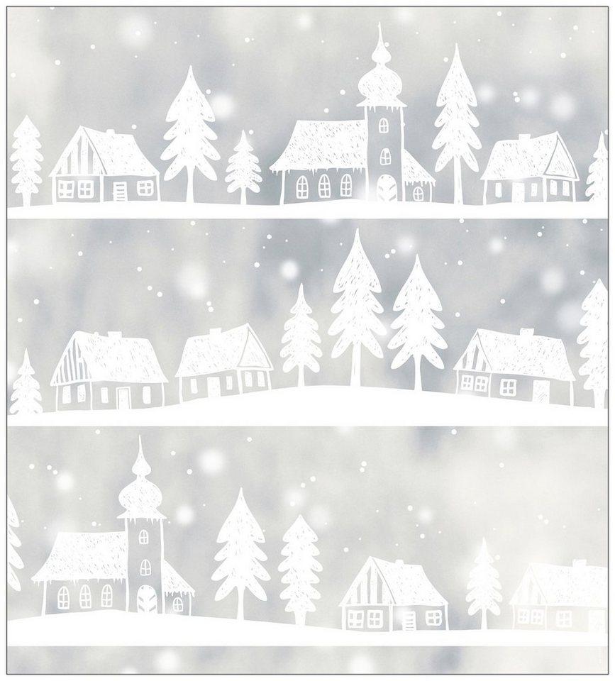 myspotti fensterfolie myspotti look winter village white 90 x 100 cm statisch haftend online. Black Bedroom Furniture Sets. Home Design Ideas