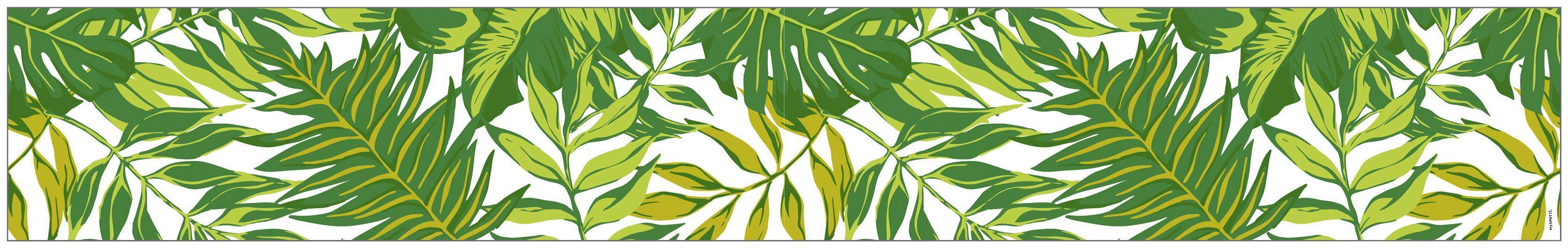 MYSPOTTI Fensterfolie »mySPOTTI look Palm Leaves green«, 200 x 30 cm, statisch haftend