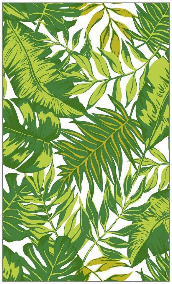 Myspotti fensterfolie myspotti look palm leaves green - Fensterfolie statisch anbringen ...
