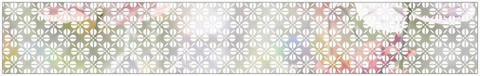 myspotti fensterfolie myspotti look grafik blumenmuster white 200 x 30 cm statisch haftend. Black Bedroom Furniture Sets. Home Design Ideas