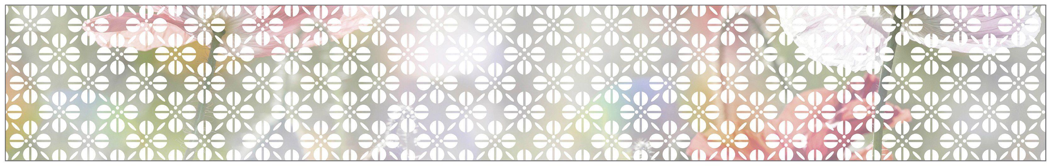 MYSPOTTI Fensterfolie »mySPOTTI look Grafik Blumenmuster white«, 200 x 30 cm, statisch haftend