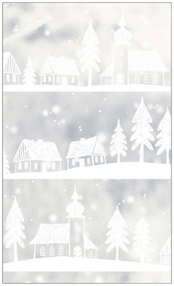 myspotti fensterfolie myspotti look winter village white 60 x 100 cm statisch haftend online. Black Bedroom Furniture Sets. Home Design Ideas