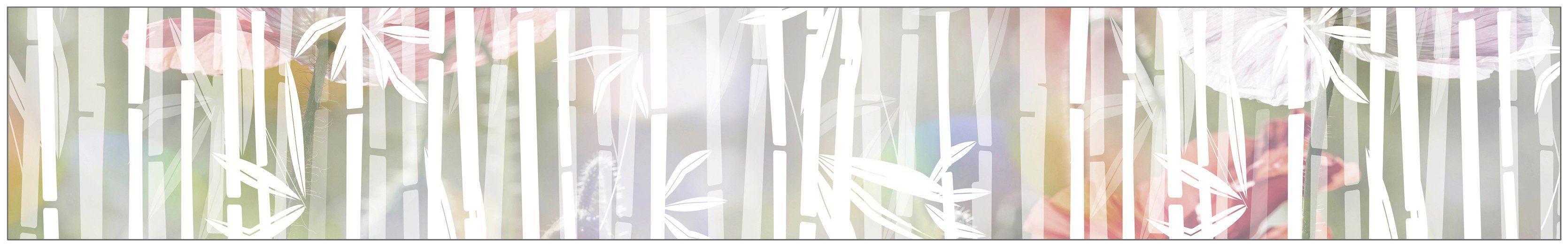 MYSPOTTI Fensterfolie »mySPOTTI look Bamboo white«, 200 x 30 cm, statisch haftend