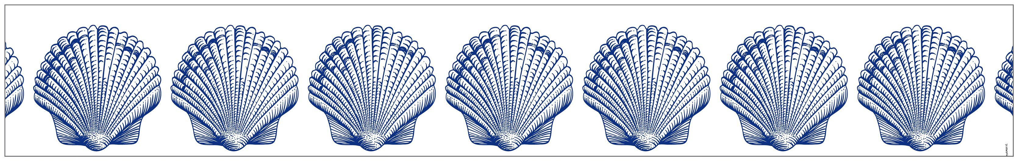 MYSPOTTI Fensterfolie »mySPOTTI look Shells blue«, 200 x 30 cm, statisch haftend